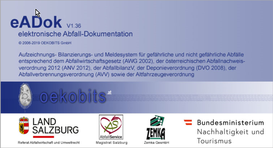 eADok — elektronische Abfall Dokumentation